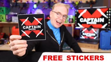 Get your FREE Captain Drone Stickers here - All Details Provided