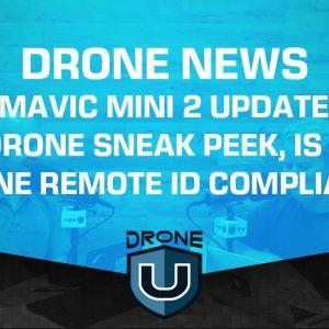 Drone News - DJI Mavic Mini 2 Updates, DJI FPV Drone Sneak Peek, Is Your Drone Remote ID Compliant?