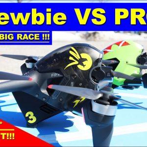 Racing a DJI FPV Drone - Ya Gotta be in Manual Mode to win! - Newbie vs Pro