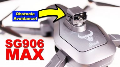 SG906 MAX - This drone shoots lasers!!! Unboxing and Backyard Flight