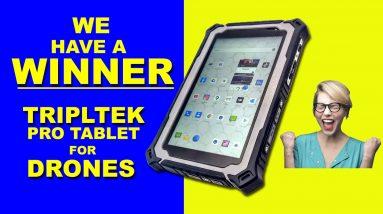 Winner of the TRIPLTEK PRO Drone Tablet Giveaway